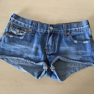 True Religion Denim Shorts, Size 29, read